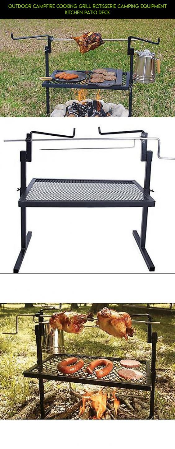Outdoor Campfire Cooking Grill Rotisserie Camping Equipment Kitchen Patio Deck Camera Technology Racing