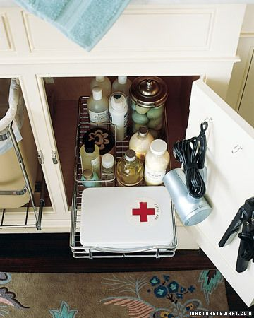sliding tray under bathroom vanity