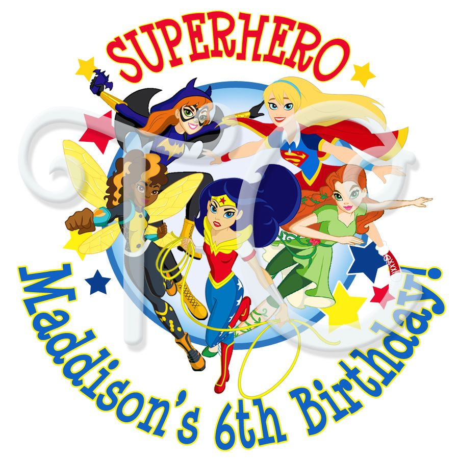 24 Dc Superhero Girls Personalized Stickers With Images Girl