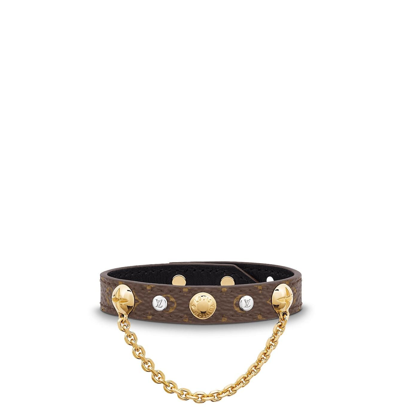 Monogram Accessories Leather Bracelets Lv Harajuku Bracelet Louis