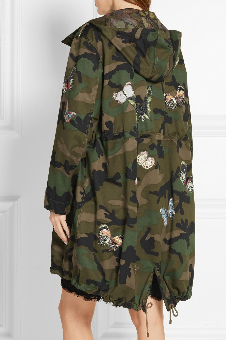 Veste army coton imprime camouflage