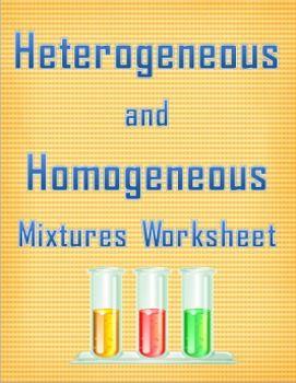 heterogeneous and homogeneous mixtures worksheet worksheets students and school. Black Bedroom Furniture Sets. Home Design Ideas
