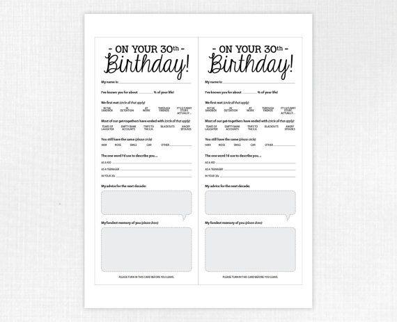 70th Birthday Party Game Card, Funny Milestone Printable