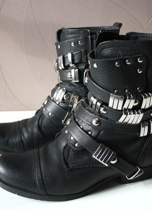 purchase cheap 8f902 03255 Sacha Boots Nieten Echt Leder Biker Trend Schuhe ...