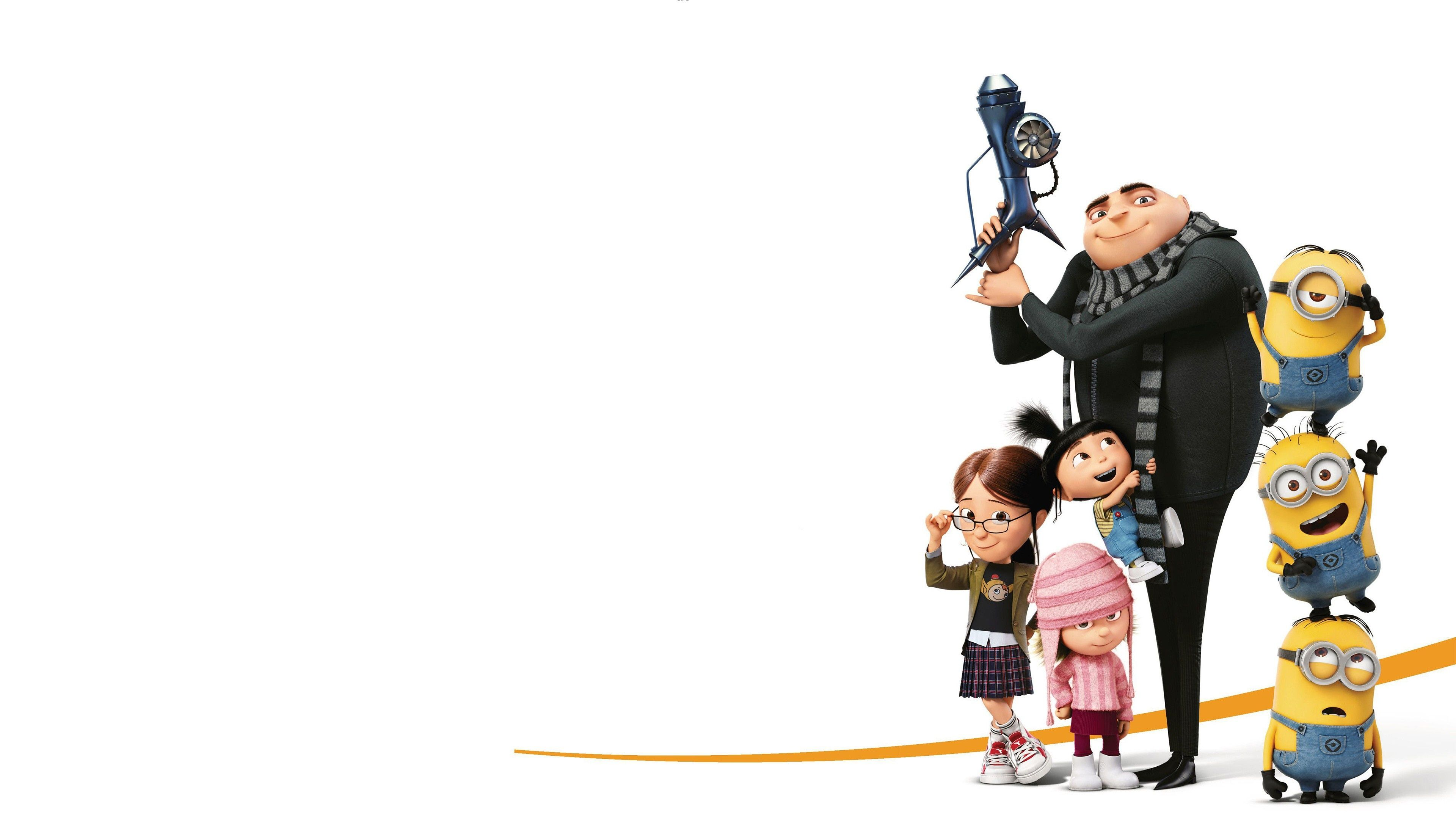 4k Gru Minions Agnes Margo And Edith Despicable Me 3 Movie 2017