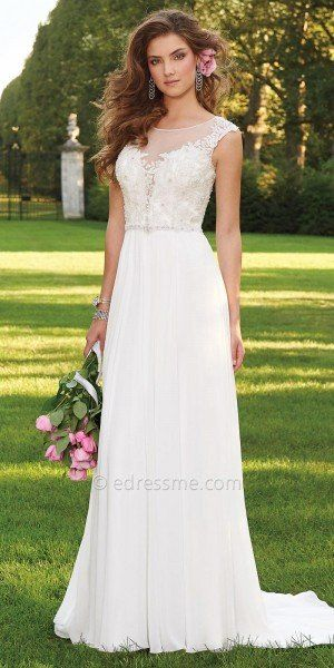 Caviar Beaded Cap Sleeve Wedding Dress by Camille La Vie | All About ...