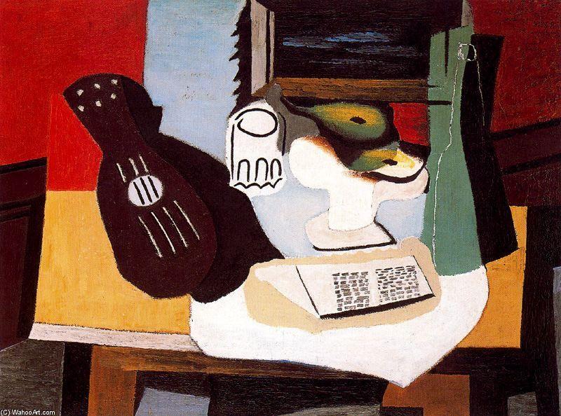 Acheter Tableau u0027guitare, verre et fruits bolu0027 de Pablo Picasso