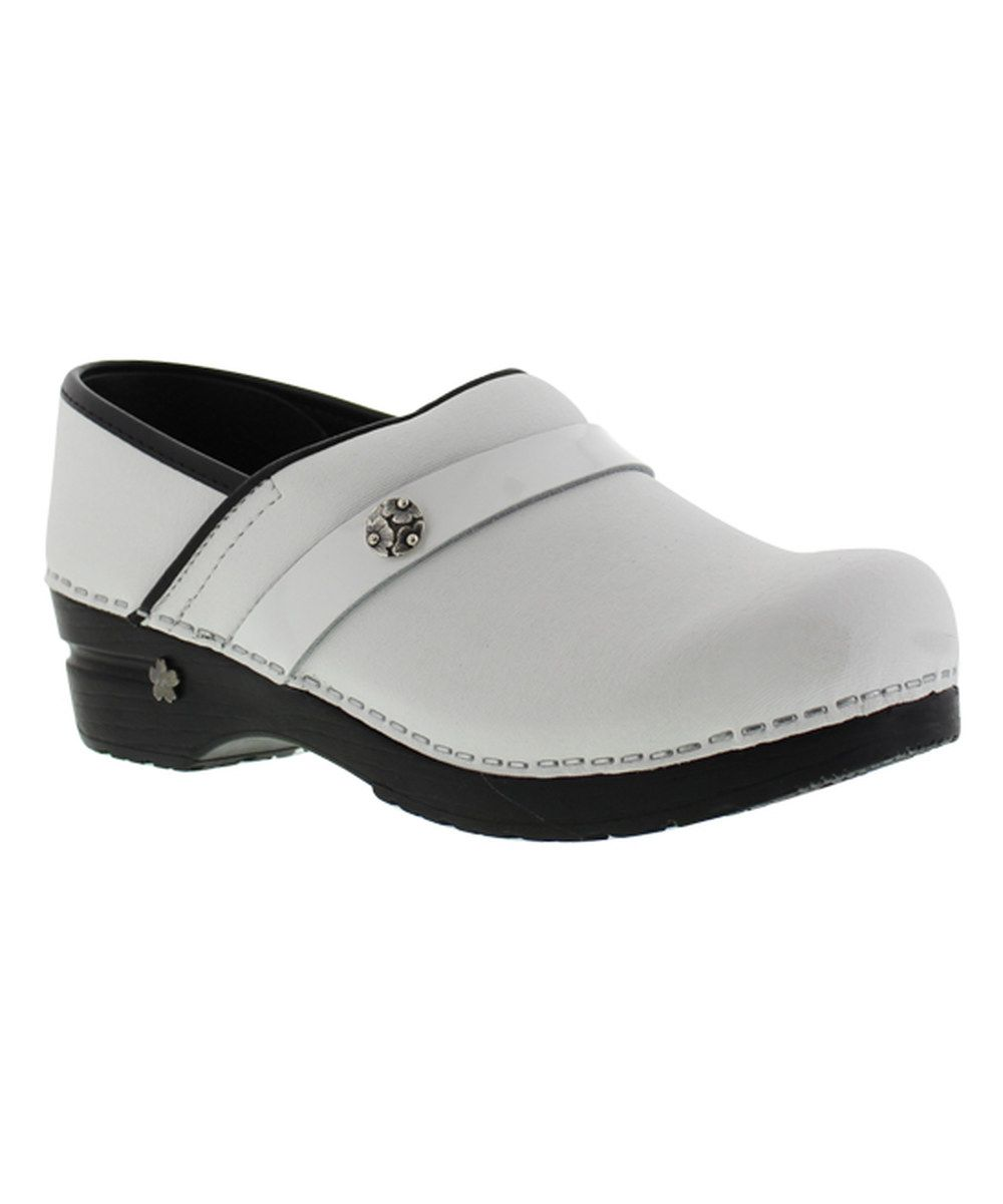 Look at this White Koi Professional Fara Leather Clog on #zulily today!