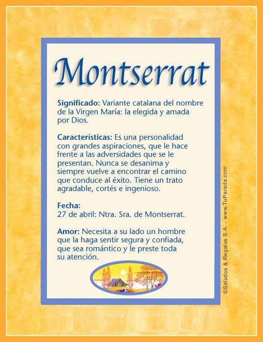 Montserrat imagen de montserrat frases pinterest for Significado de cuarto