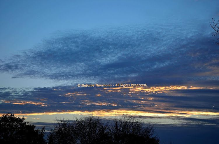HAPPY LITTLE CLOUDS © Stefanie Neumann   Google+:  Sky Scapes at the blue hour in Autumn.