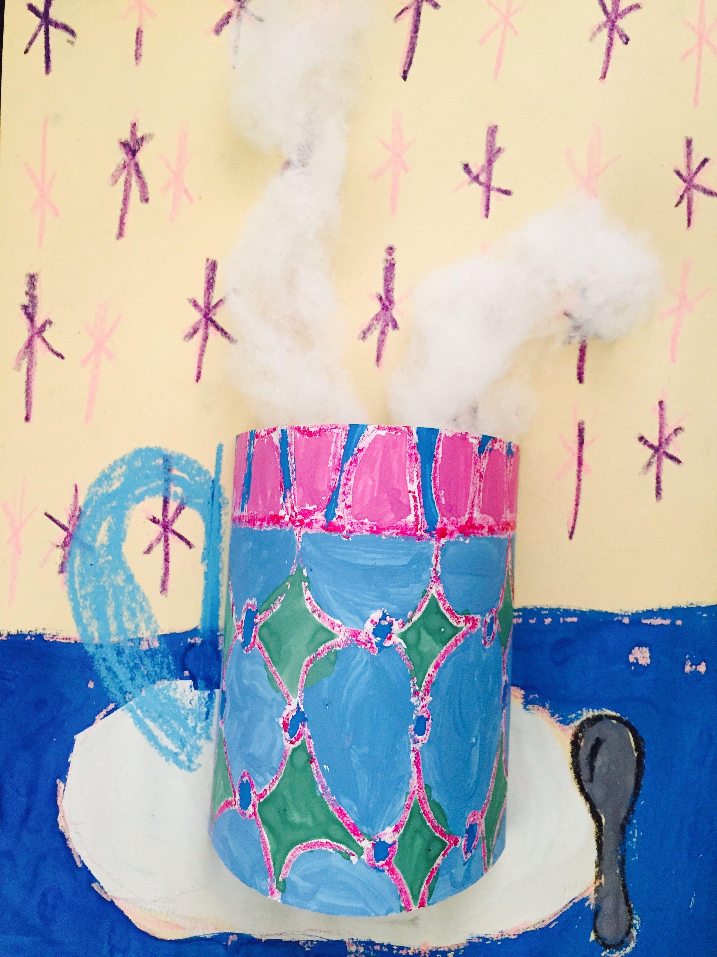Les tasses de chocolat chaud- 4 e année