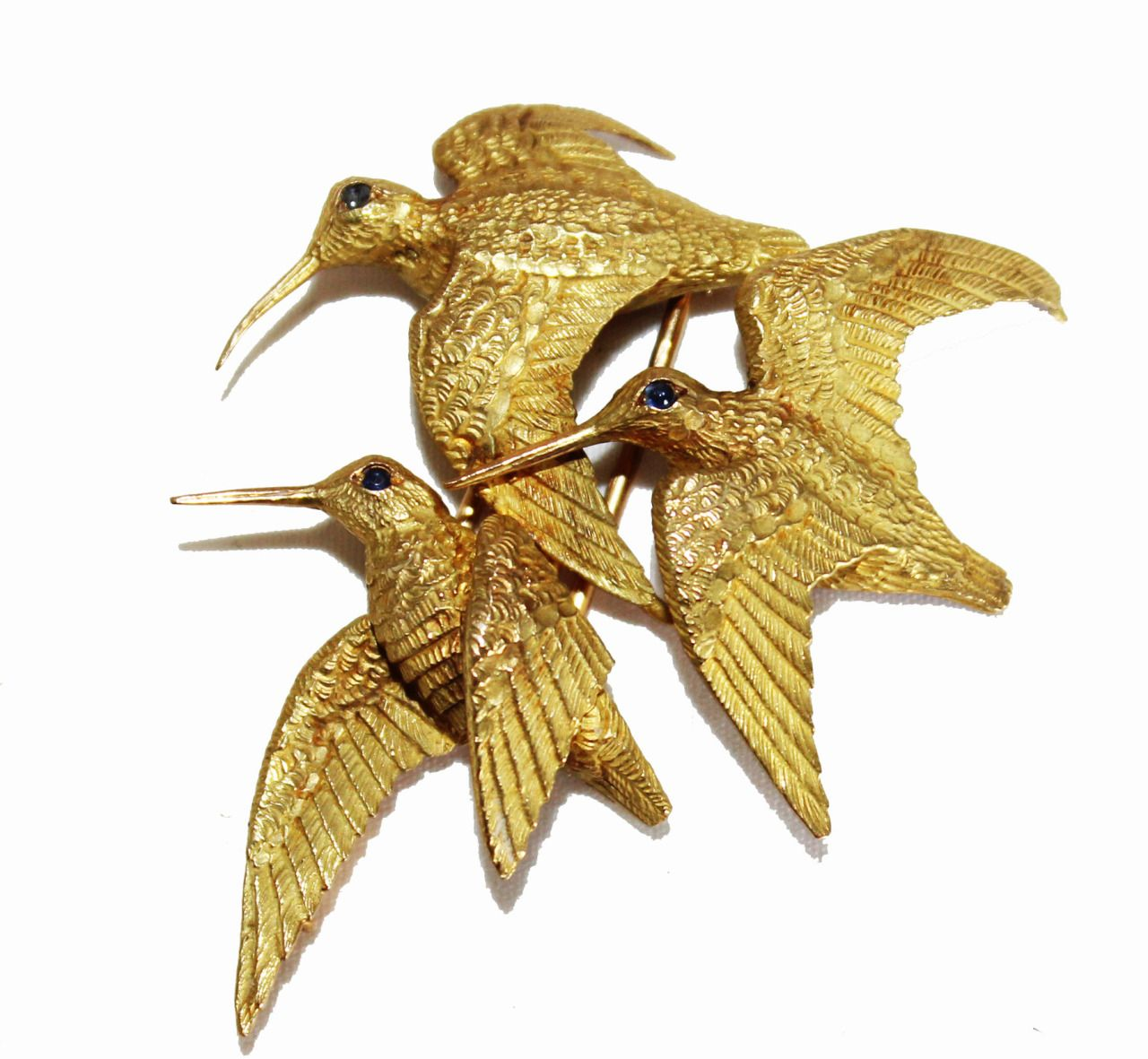 "Snipes Brooch by ""Hermes"", 1962Gold, 18 ct"