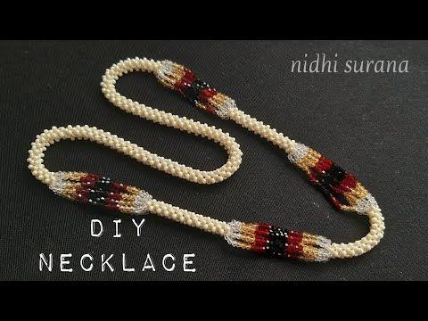 💖 Crystal Bicones + Rocailles Halskette || Diy || Wie man Halskette (0257) -…