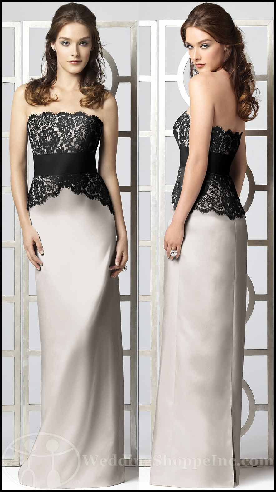 My Wedding Chat » Blog Archive Black and White Bridesmaid Dresses ...