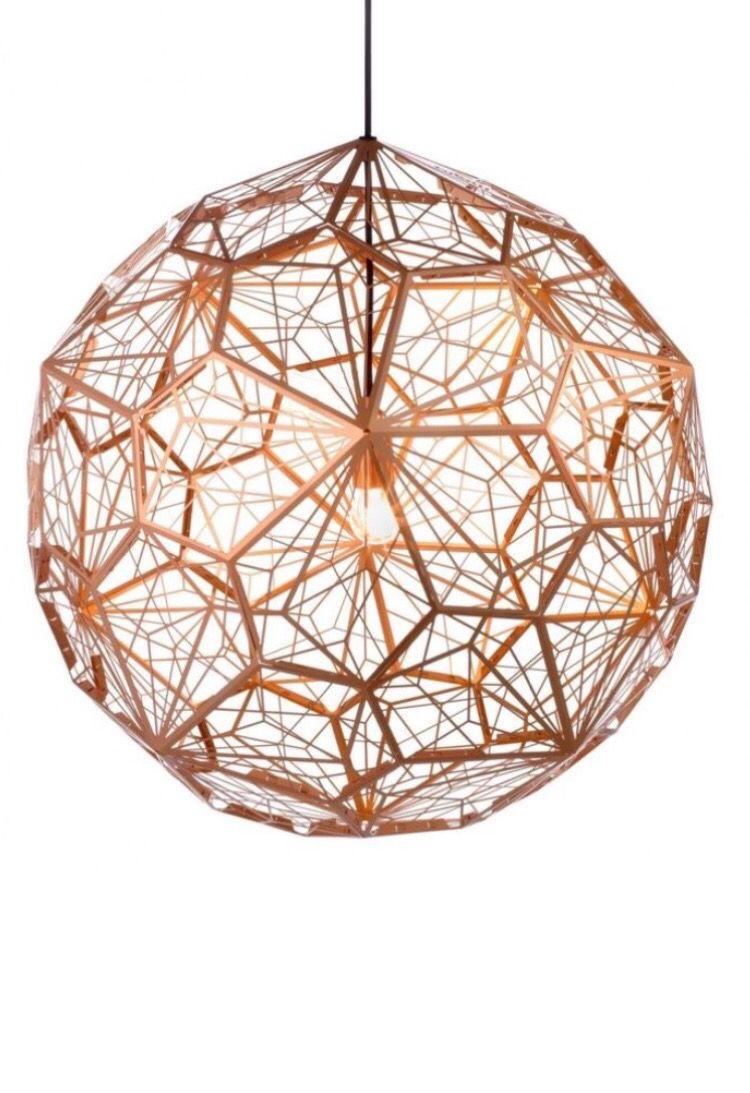 Tom Dixon Etch Web Lamp Copper Copper Pendant Lights Stainless Steel Pendant Light Metal Light Fixture