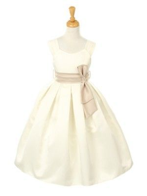 60b76b122e6 Ivory Pick Your Sash Satin Empire Flower Girl Dress  49.99 All Sizes - Flower  Girl Dresses - GIRLS
