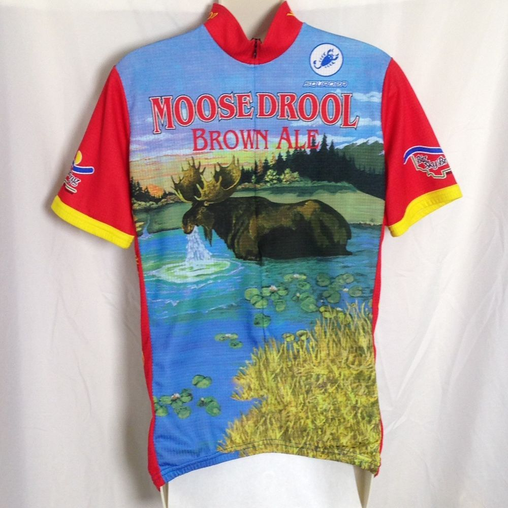 Moose Drool Big Sky Brewing Squadra Cycling Jersey L Large Missoula Montana  Craft Beer Brown Ale Rare  8d8ac69a1fde