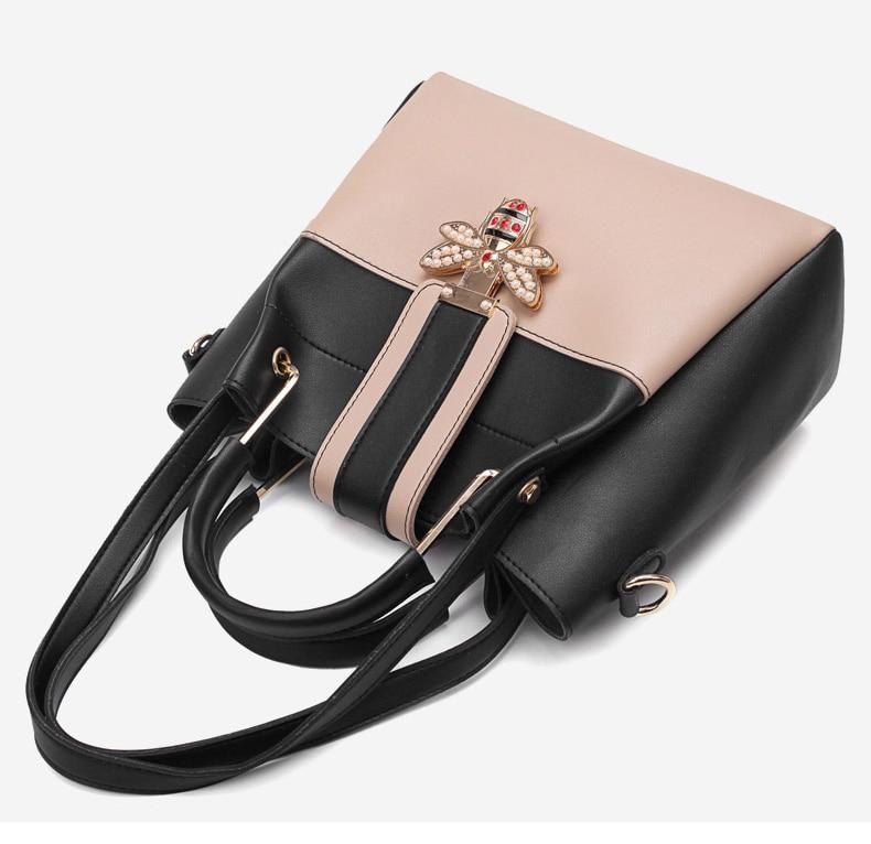 2018 new Designer Crossbody Bag 2pcs   set Fashion Bee Pearl Women Bags  Messenger Handbags Women d156b90ff4cf