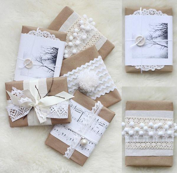 Extreem Inpak ideeën voor feestelijke kerst cadeautjes. Inspiratie voor &SQ48
