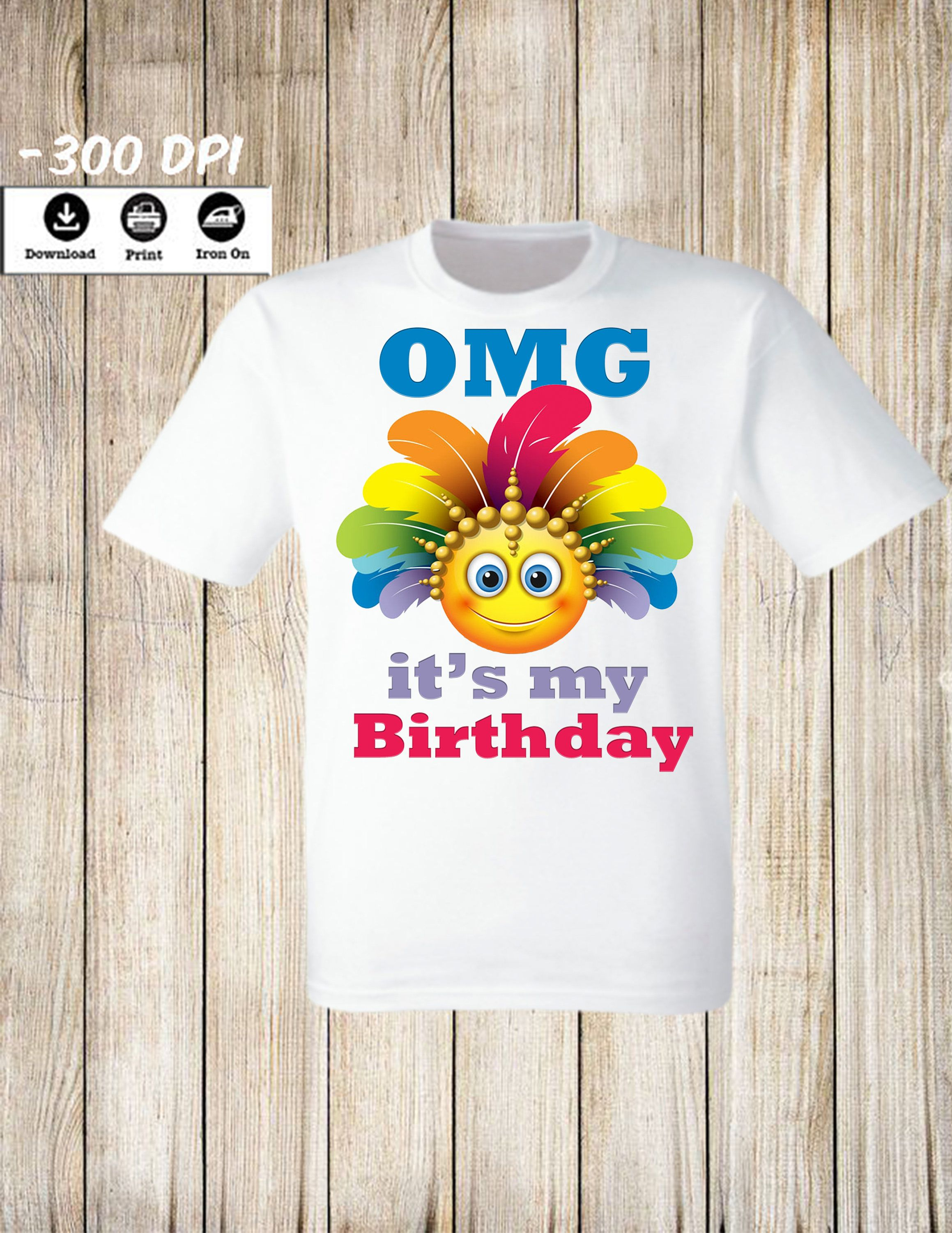 Emoji Birthday Party Iron On Transfer Printable Girl Or Boy T Shirt Decoration Instant Digital Download By Lollypopdigitalstore