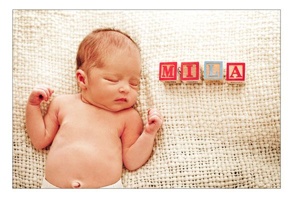 So cute. Love the use of alphabet blocks.