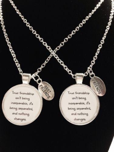 necklaces true friendship long distance quote best friends