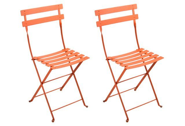 Paprika Bistro Metal Chairs Pair Outdoor Chairs Metal Bistro Chairs Outdoor Patio Designs