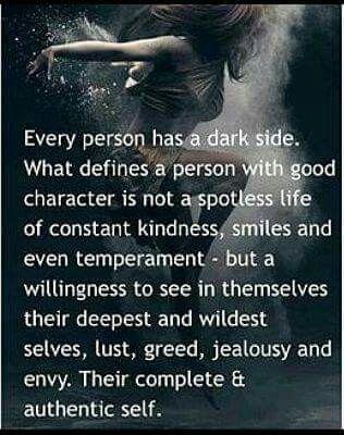 Everybody has a dark side
