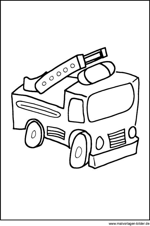 Malvorlage Auto Malvorlage Auto Feuerwehrauto Kinder Feuerwehr