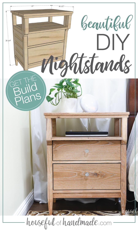 Diy Nightstand Furniture Diy Diy Nightstand Diy Furniture