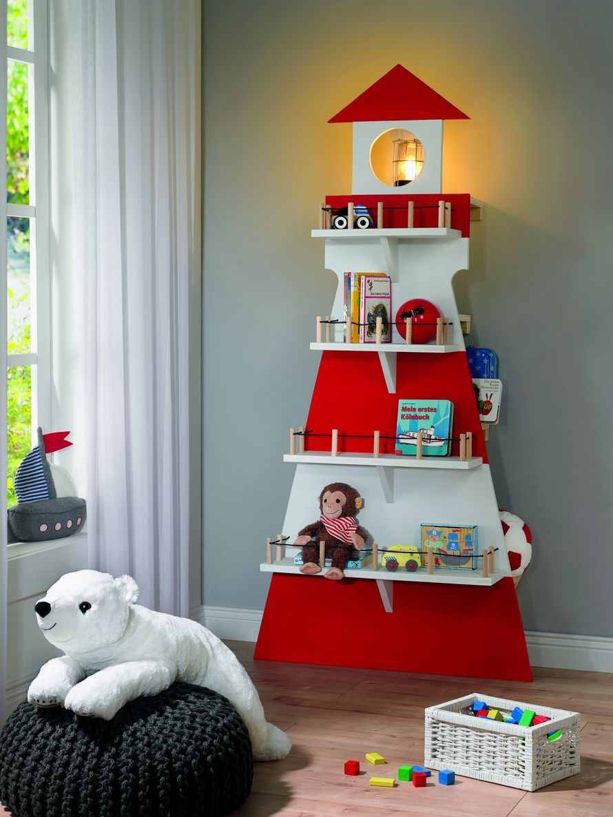 toom kreativwerkstatt kinderregal leuchtturm deko. Black Bedroom Furniture Sets. Home Design Ideas