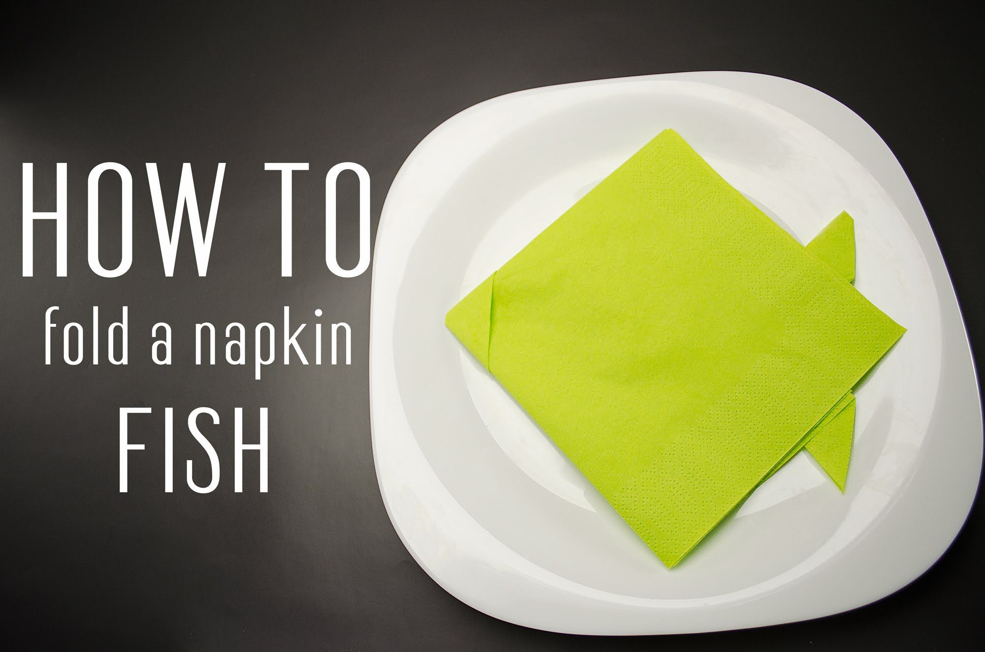 Learn How To Fold A Napkin Into A Fish From A Paper Napkin. You Can Also  Use Starched Cloth Napkins. Very Simple Instruction (step By Step).
