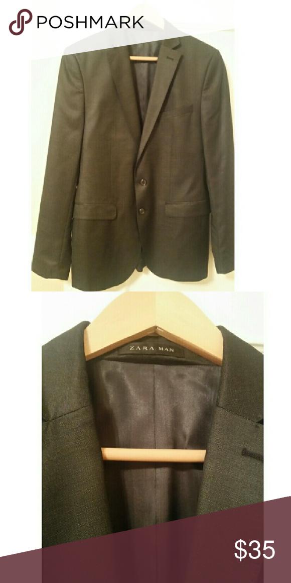 Zara Blazer Color: Dark Slate Gray Tailored/Slim Fit Made in Turkey