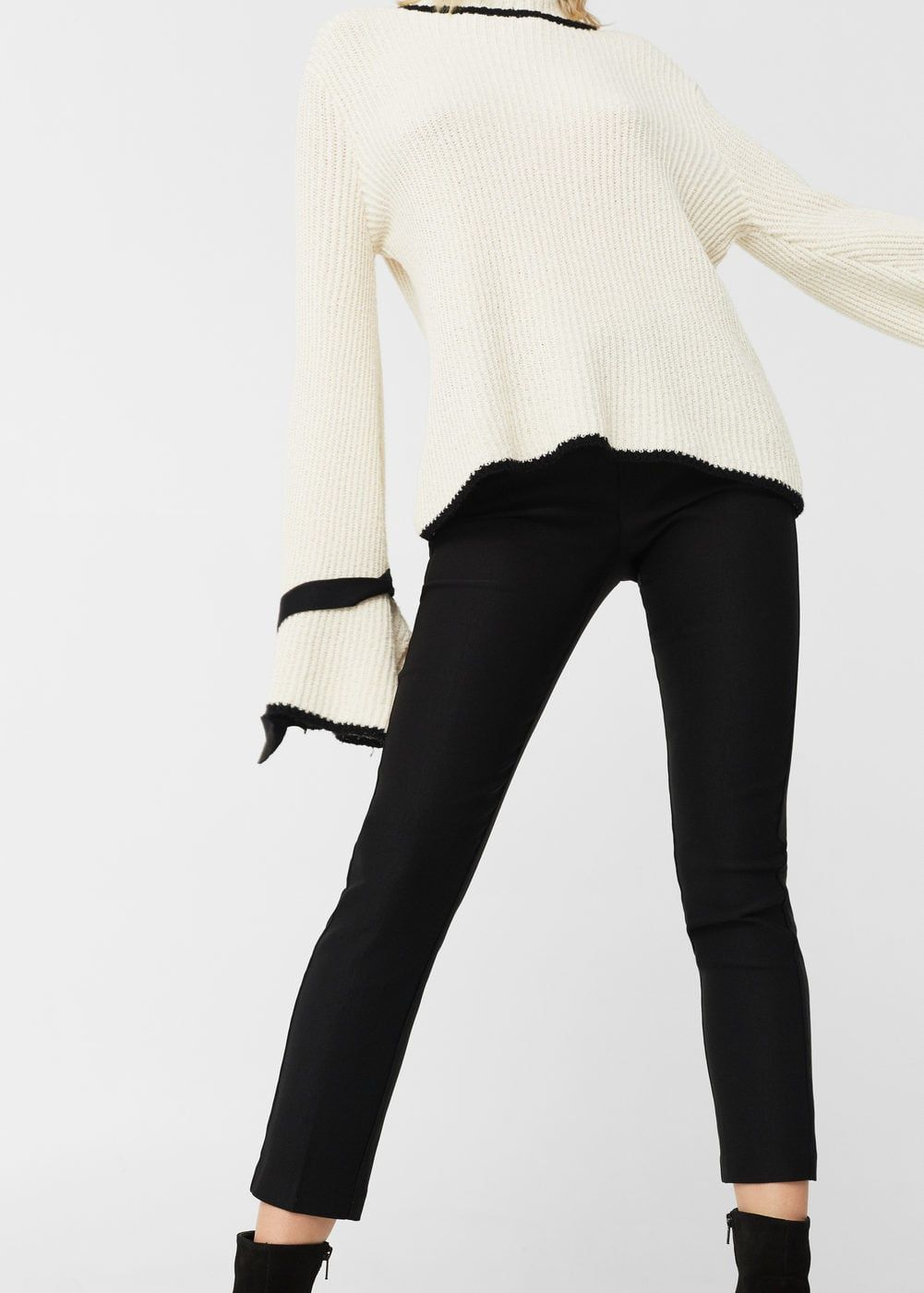 MANGO Crop Slim Fit Trouser - , Women