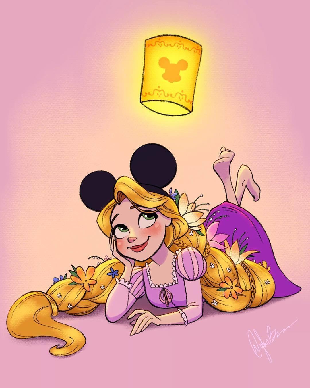 Disney Princess Rapunzel wearing Mickey Ears | classic ...