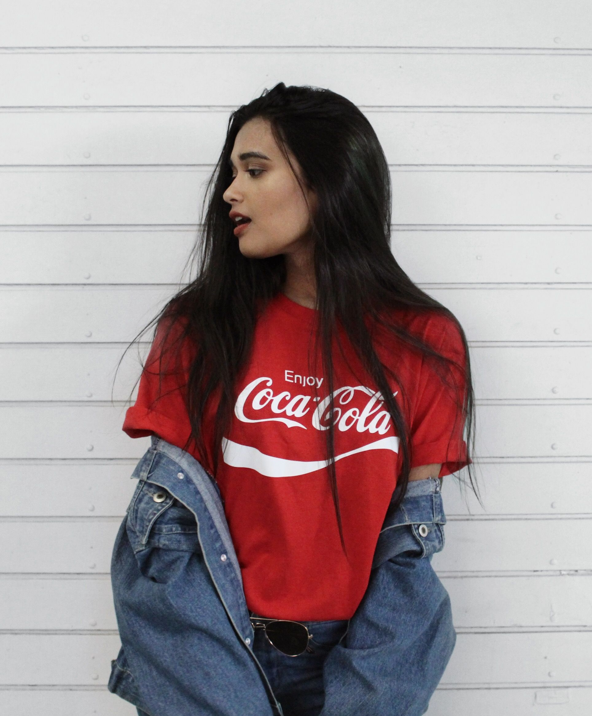 168bbaf7ad BTSxCocaCola outfit female version Jimin Coca Cola Shirt