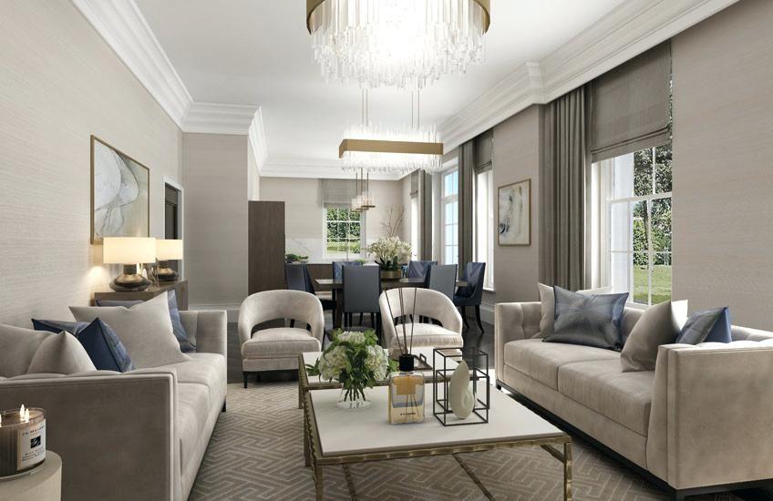 L Shaped Sofa Arrangement Livingroom Layout Interior Design London Rectangular Living Rooms