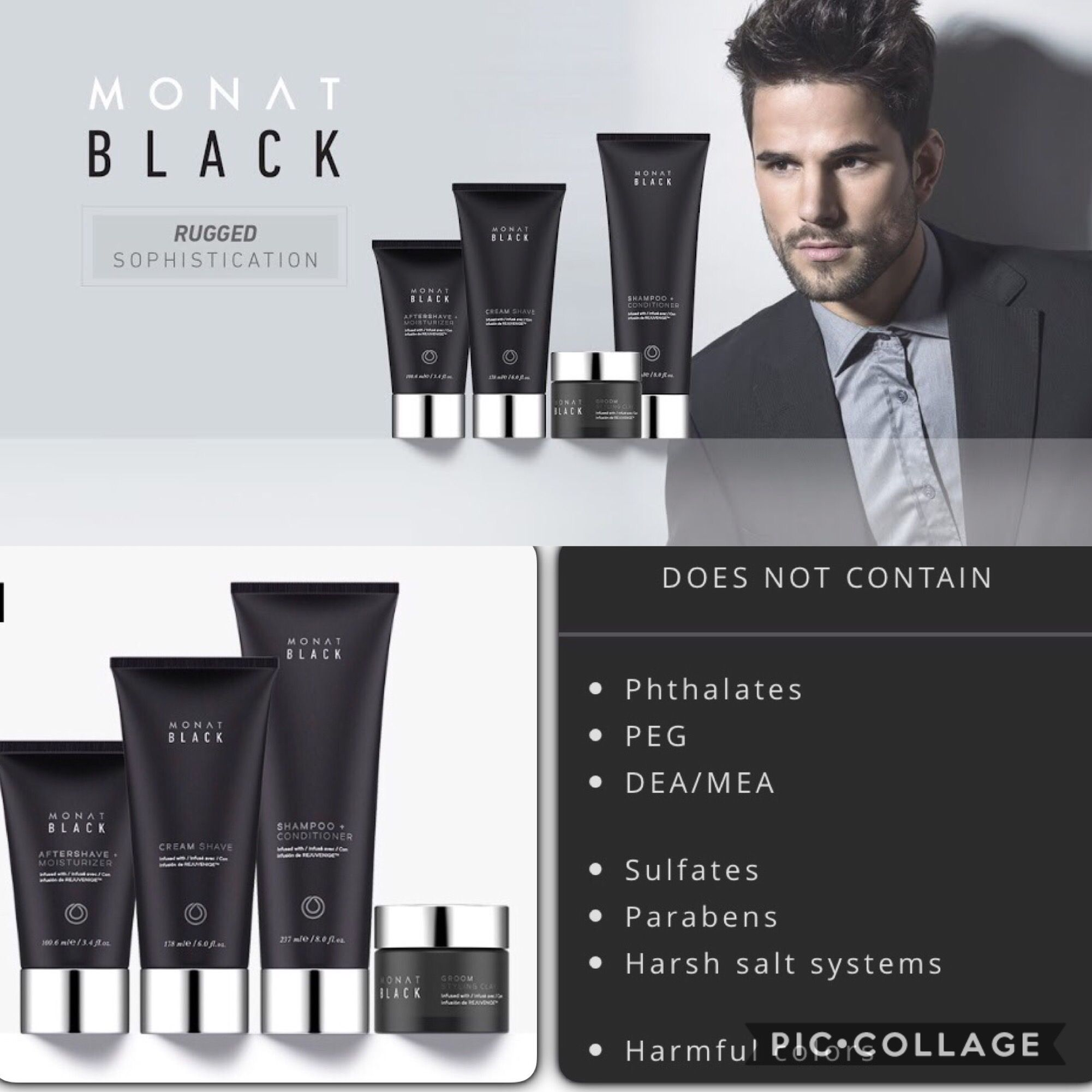 Monat Black Is A Men S Line Of Shampoo Styling Clay Cream Shave And After Shave Moisturizer Nature Based Products Tha Monat Black Shampoo Monat Black Monat