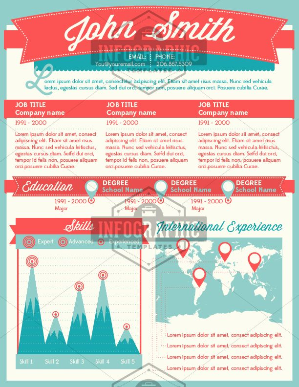 infographic resume related keywords suggestions infographic