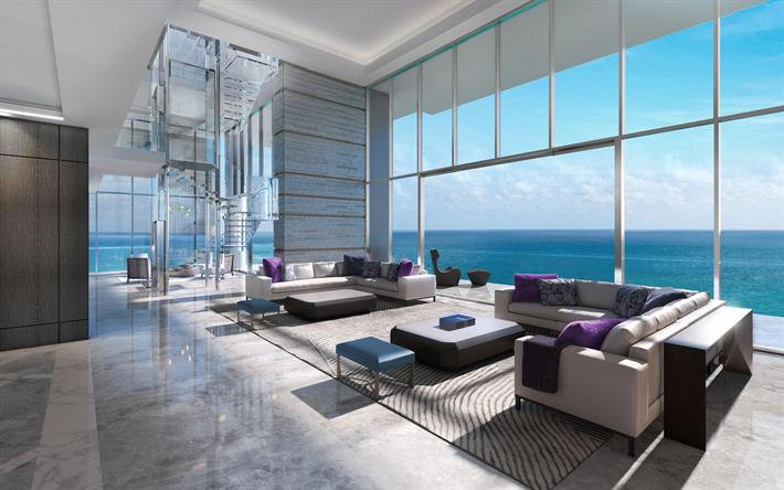 Scarica sfondi appartamento di lusso interni moderni un for Piani di lusso a pianta aperta