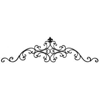 Black Metal Wall Pediment With Fleur De Lis Stuff For The Home In