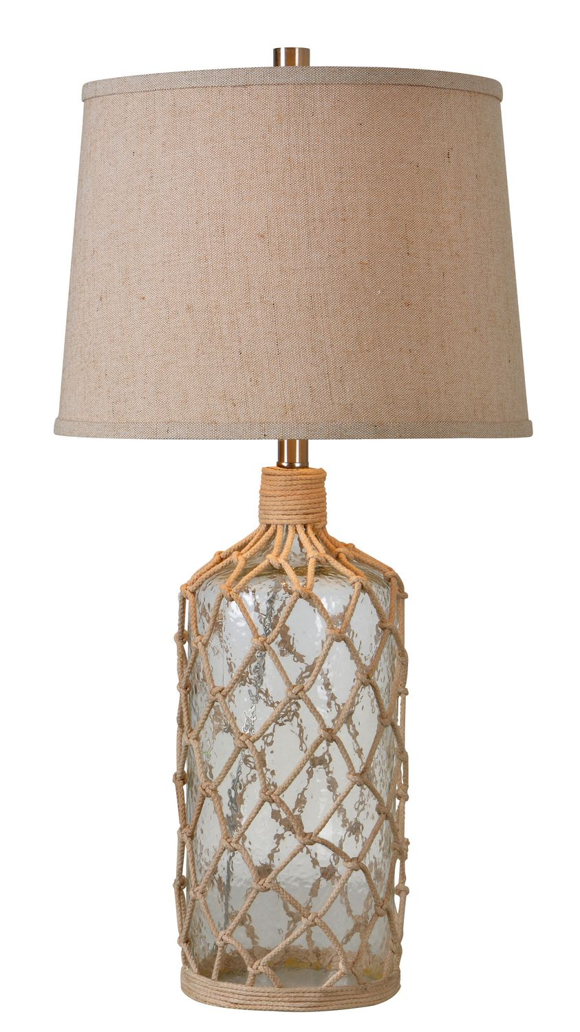 Shepard lighting lighting store art gallery mirrors lamp kenroy home 32816 captain 1 light table lamp with beige fabric shade glass and rope lamps table lamps accent lamps mozeypictures Choice Image