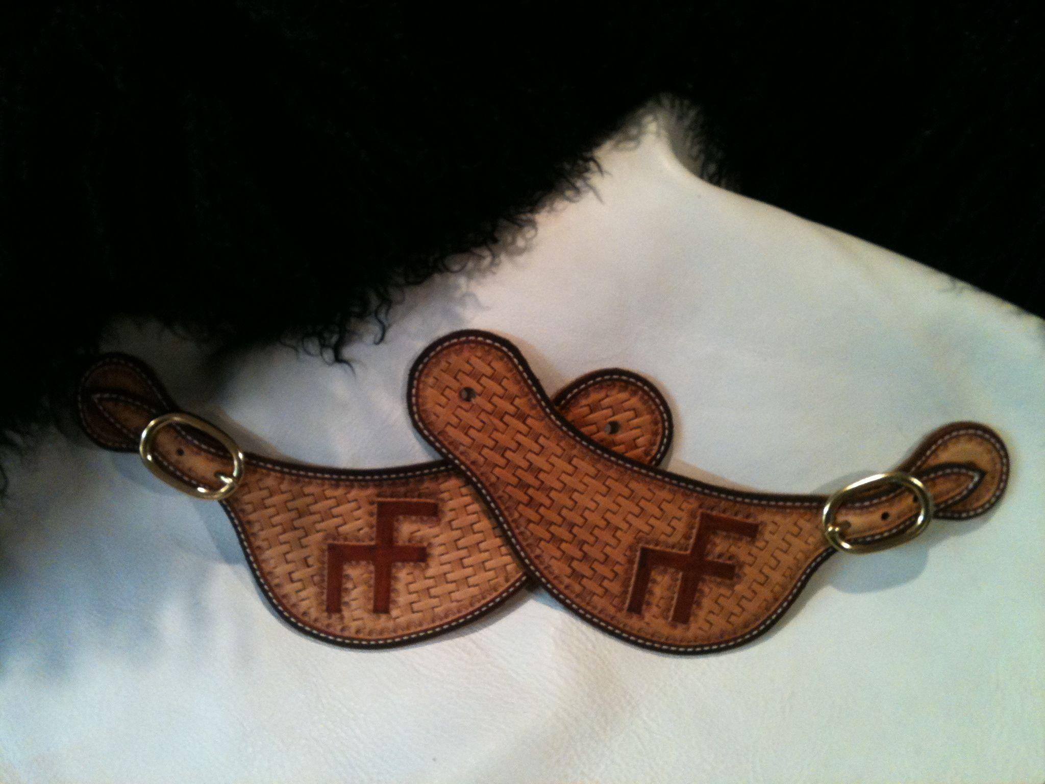 Spur straps made by PRCA Cowboy Larry Sandvick, 12x NFR