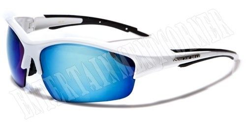 55b492fdf13 ARCTIC BLUE SPORTS BLUE LENS MIRRORED SUNGLASSES RUNNING CYCLING WHITE