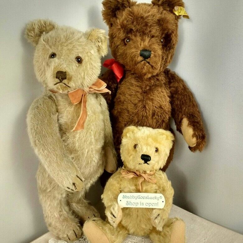 Black Hand-made Button Mini Teddy Bear Collection