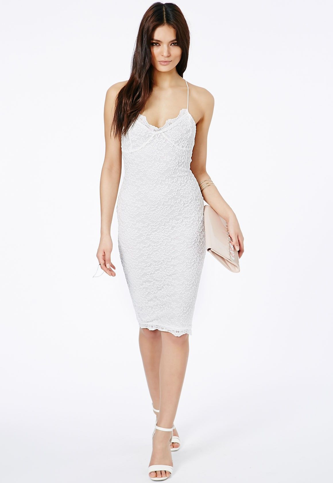 deae9c786812 Missguided - Zoraide Lace Strappy Midi Dress