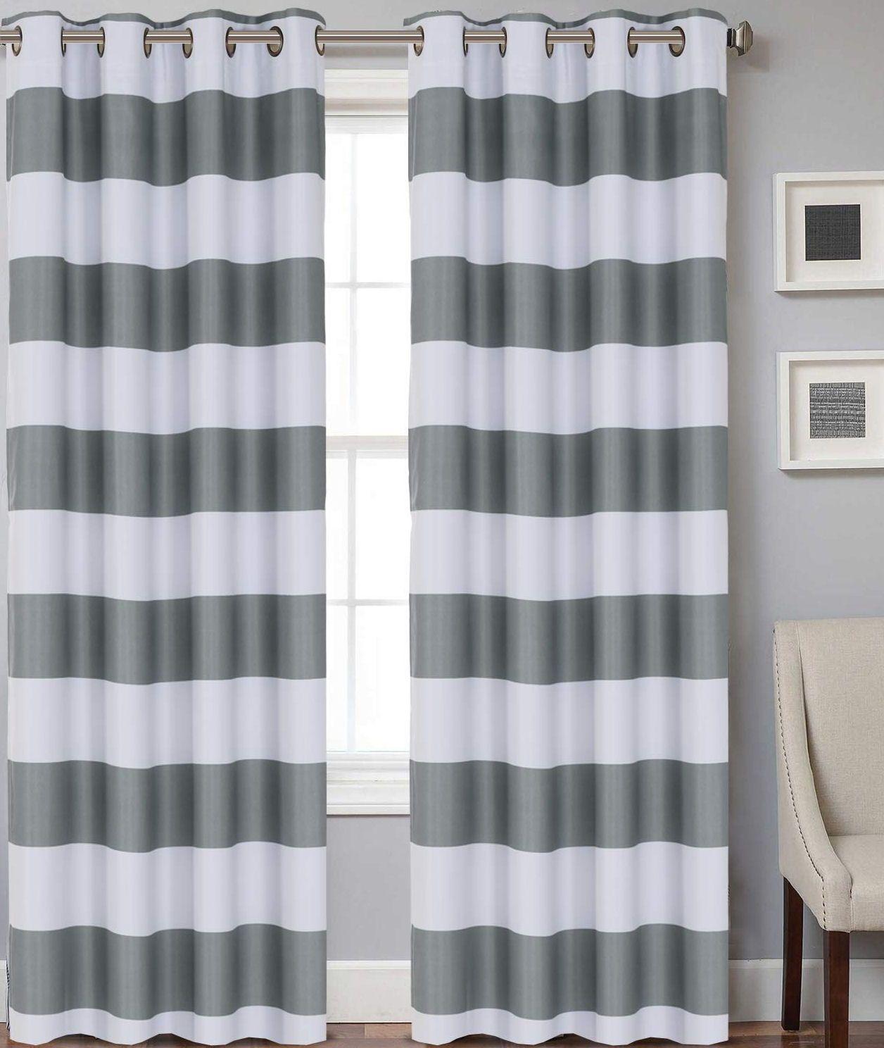 Striped Grommet Blackout Kids Drapes Coastal Bedrooms Curtains Living Room Coastal Living Rooms