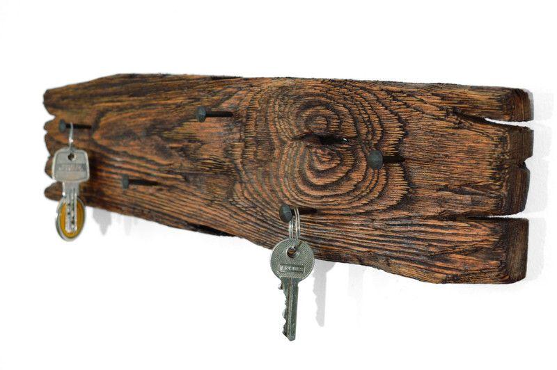 schl sselbrett aus holz schl sselbretter holz und dawanda. Black Bedroom Furniture Sets. Home Design Ideas