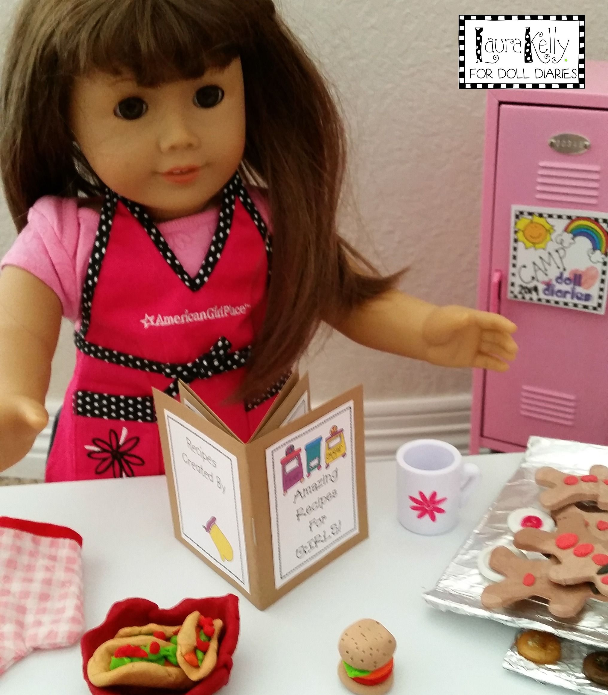 Miniature Cookbook For Doll Sized Chefs