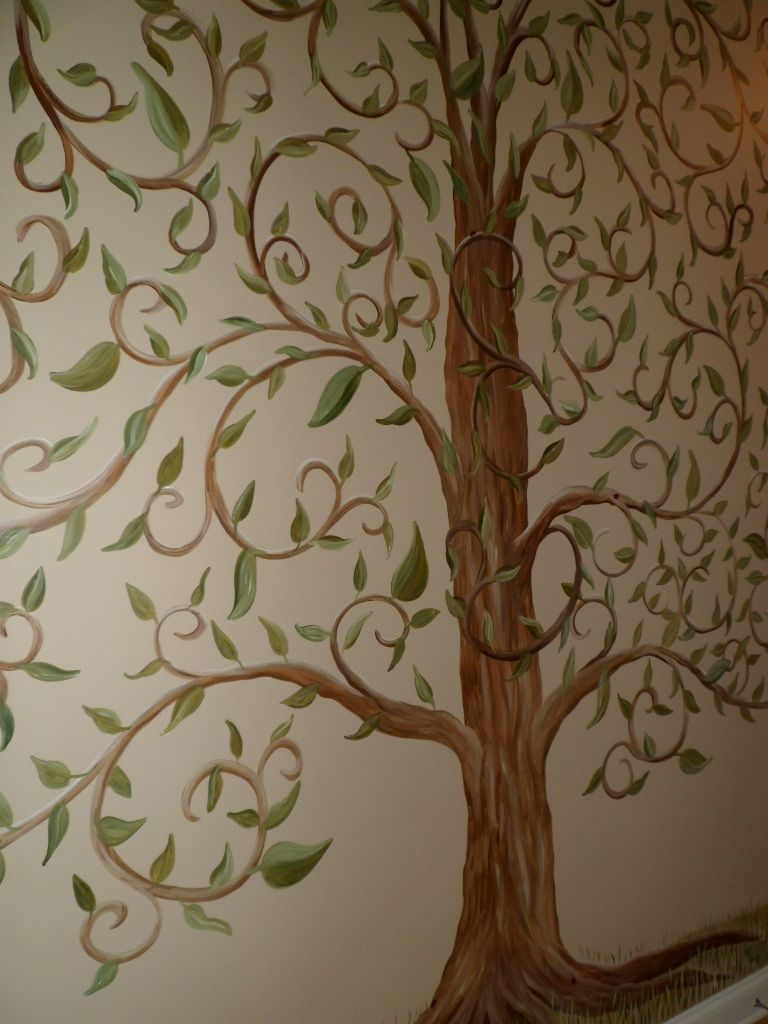 Perfect Tree Murals | Savard Studios: Whimsical Tree Of Life Wall Mural Part 3
